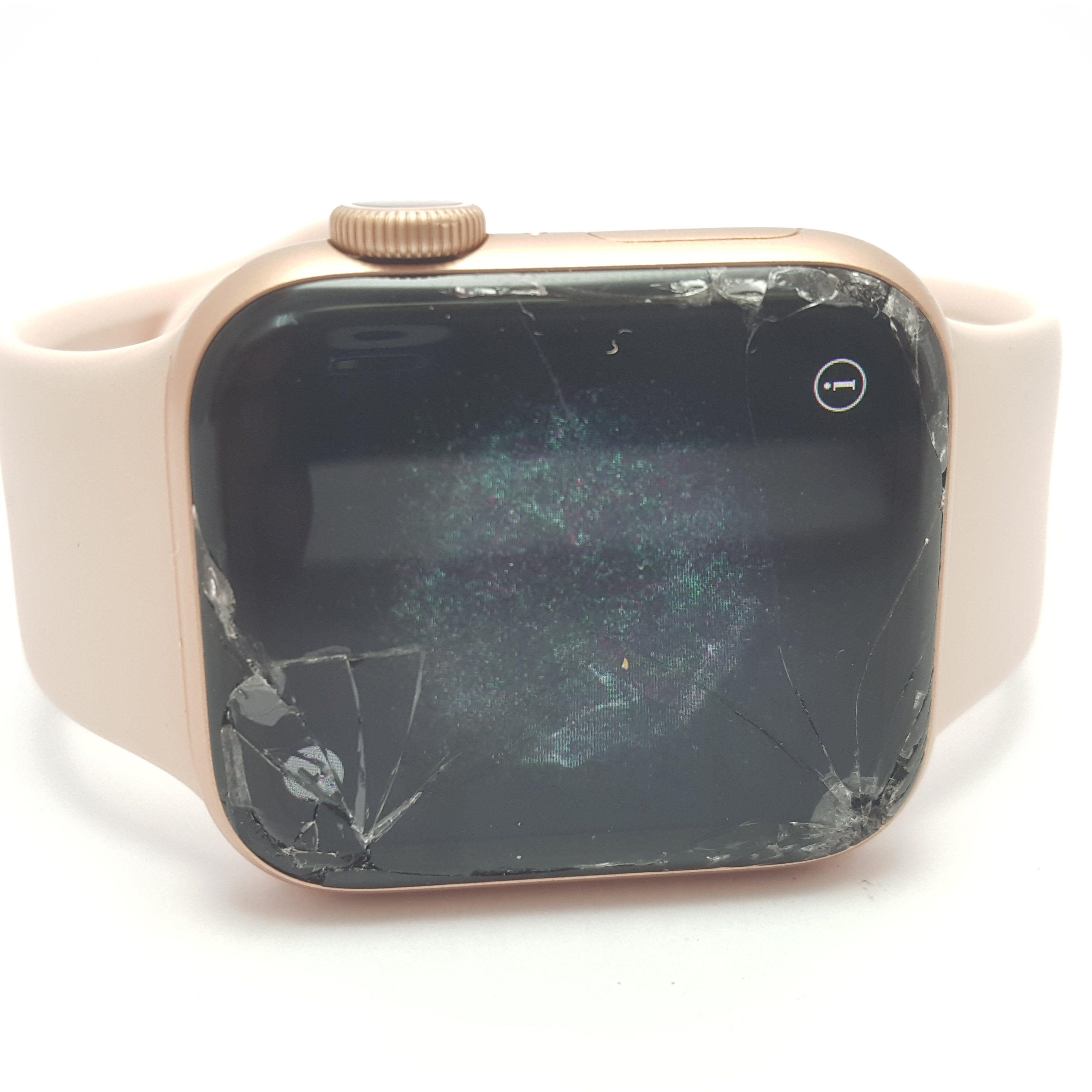 Apple Watch Series 5 Rose Gold 40mm – Cracked Screen – Touch Works!
