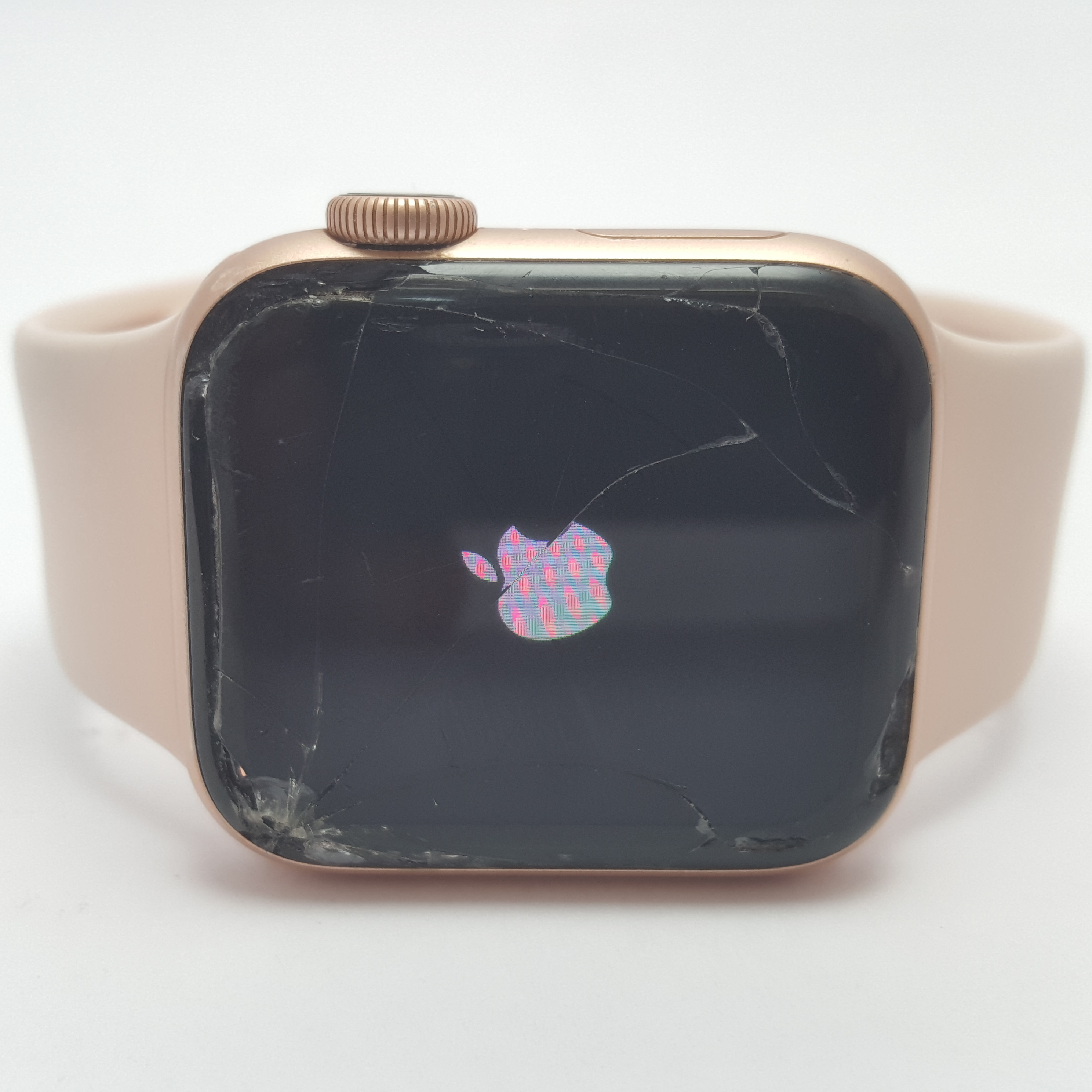 Apple Watch Series 4 Rose Gold 40mm – Cracked Screen – Touch Works!